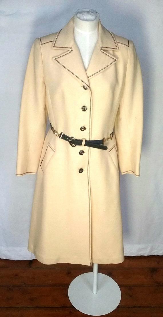 SOLD! 1960/70s Harrods Wool Coat by Mansfield