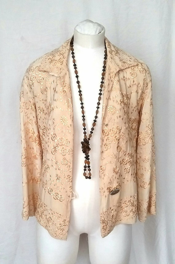 1930/40s Silk Embroidered Jacket