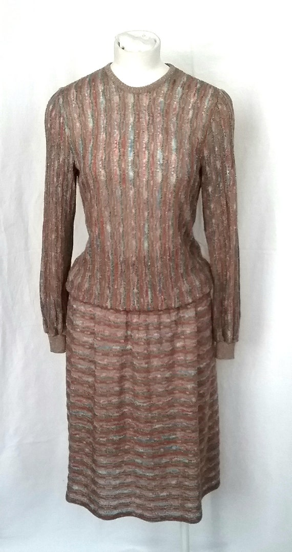 Late 1970s Frank Usher Knitted Suit