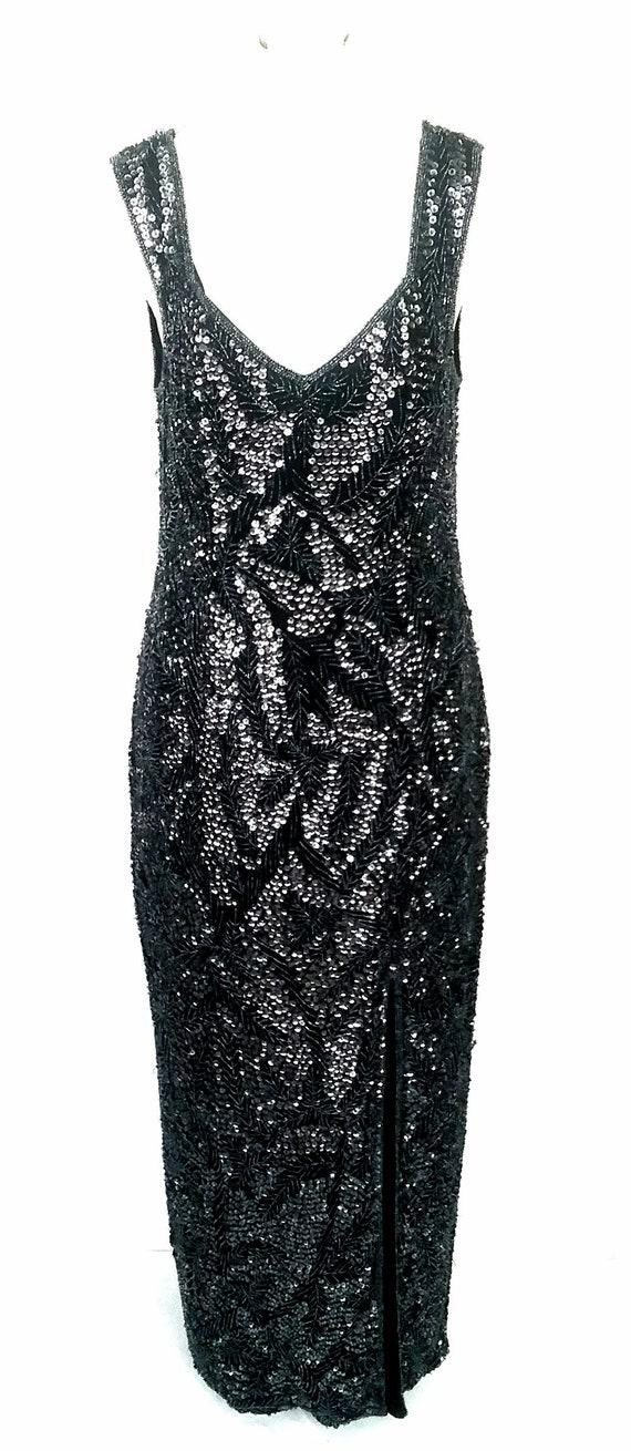 Vintage Beaded/Sequinned Evening Dress
