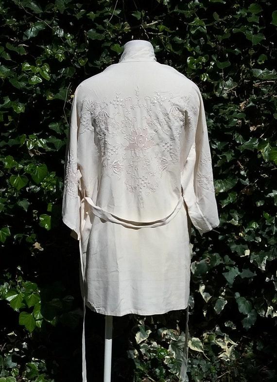 1920s Embroidered Silk Kimono Jacket
