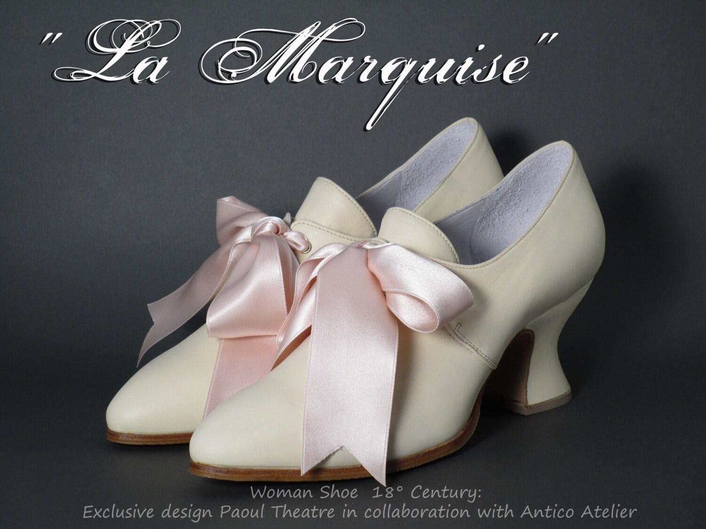 IVORY 18 century shoes MOD  730_70P - Marie Antoinette  MOD shoes - 18 th.- scarpa settecento donna avorio bfd57e