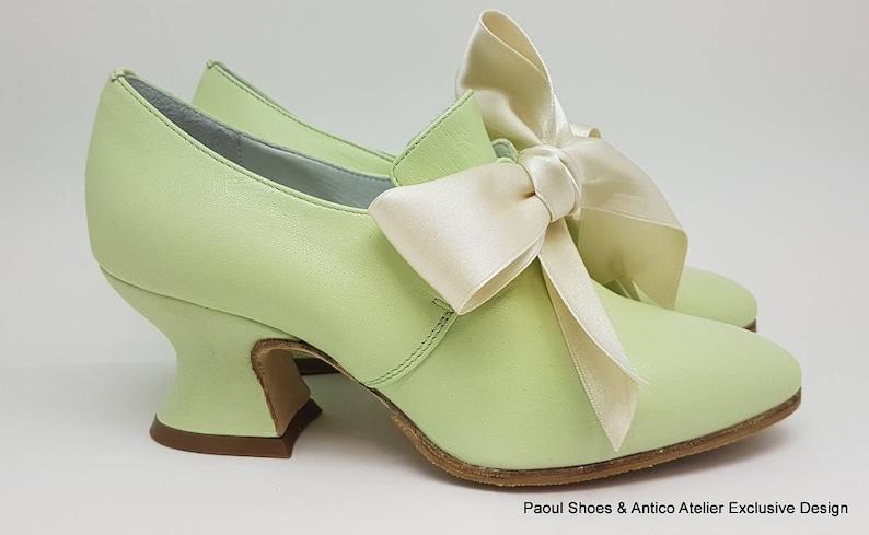 9fb88342d30ddb 18 Jahrhundert Schuhe PASTELLGRÜN 730 70P-Schuhe Marie