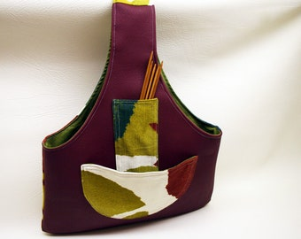 Project Bag Arm Bag Knitting Wrist Bag Crochet Wrist Bag Project Embroidery Market Arm Sock Bag Arm Knitting Bag Travel Knitting Bags Pouch