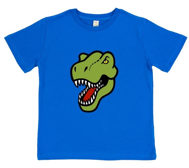 Kids Dinosaur T-Shirt | Organic Cotton | Pink, Blue and Grey