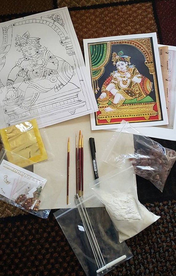 Do it yourself tanjore painting kits etsy image 0 solutioingenieria Images