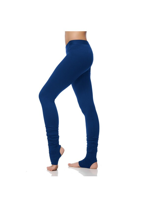 Arya Yoga Leggings  Muted Blue Tights With Spats  Women Clothing  Handmade  Yoga  Extra Long  Muted Blue Leggings AryaSense 4GETIBU13