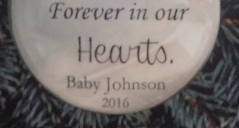 Child Memorial Ornament In Memory Pregnancy Loss Remembrance of Miscarriage Sympathy Gift for Infant Loss Our Sweet Angel w Baby Girl Charm