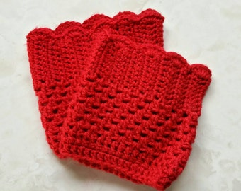 Boot cuffs, leg warmers, boot topper