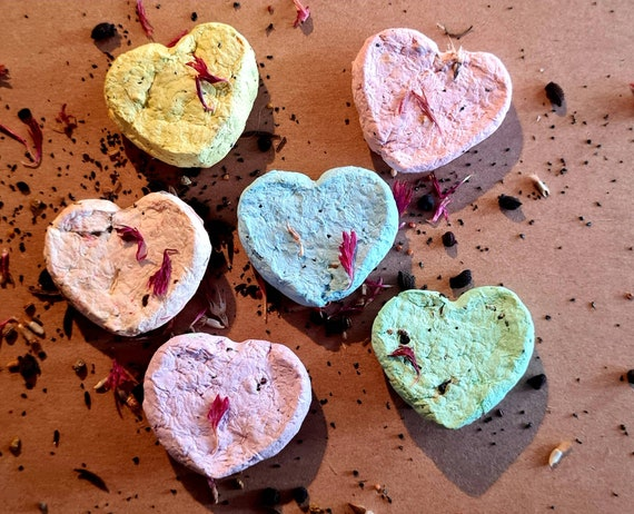 4 WILDFLOWER SEED HEARTS ECOFRIENDLY CHRISTMAS GIFT,CHRISTMAS STOCKING FILLER