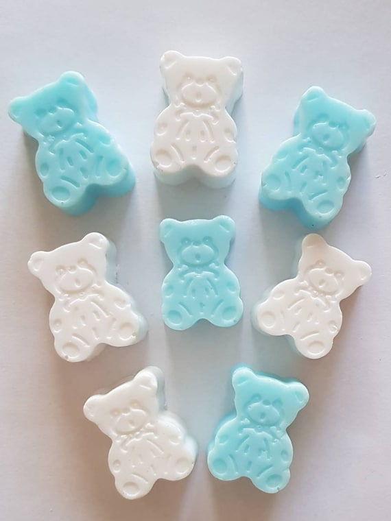 TEDDIES  BABY POWDER FRAGRANCE BABY SHOWERS//PARTY FAVOURS HANDMADE SOAPS 10