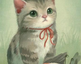 Little Hunter - Kitten Art Print