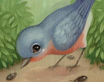 Bluebird - 4x6 Mini Art Print