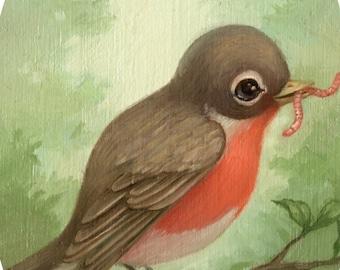 Robin - 4x6 Mini Art Print