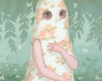 Floral Ghost - Creepy Cute Illustration