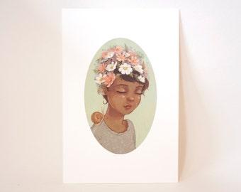 Spring Girl #2 - Mini Art Print