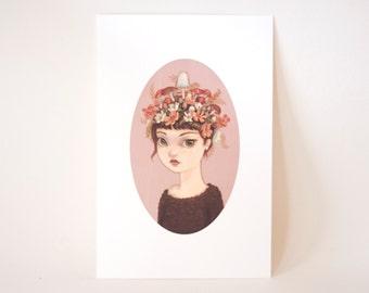 Spring Girl #3 - Mini Art Print