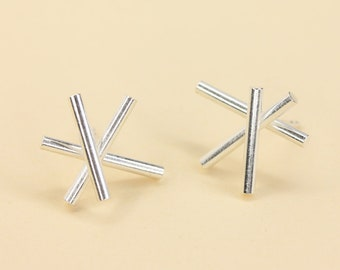 Earrings Star in Silver