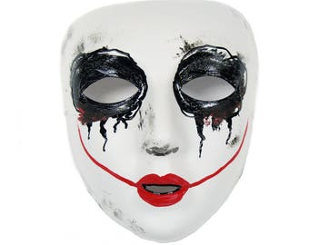 Smiley Purge Similar Scary Masquerade Mask for Men and Women VA-2075 bbc5ec733c