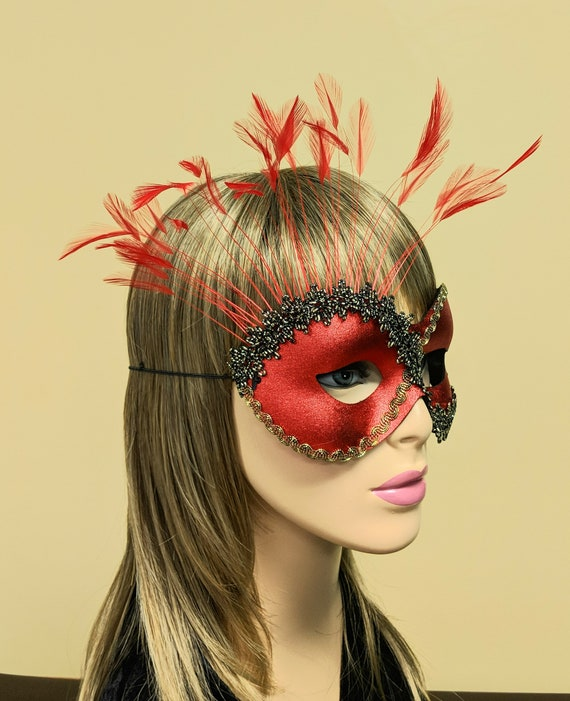 Spider Dance Silver Halloween Mask for Women A-2304S