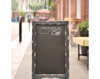 Double Sided Chalkboard With Your Logo, Chalkboard Easel, Restaurant Chalkboard, Sandwich Chalkboard, Sidewalk Chalkboard
