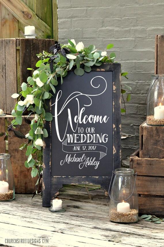 Hochzeits-Tafel mit Botschaft doppelt doppelseitig Tafel   Etsy