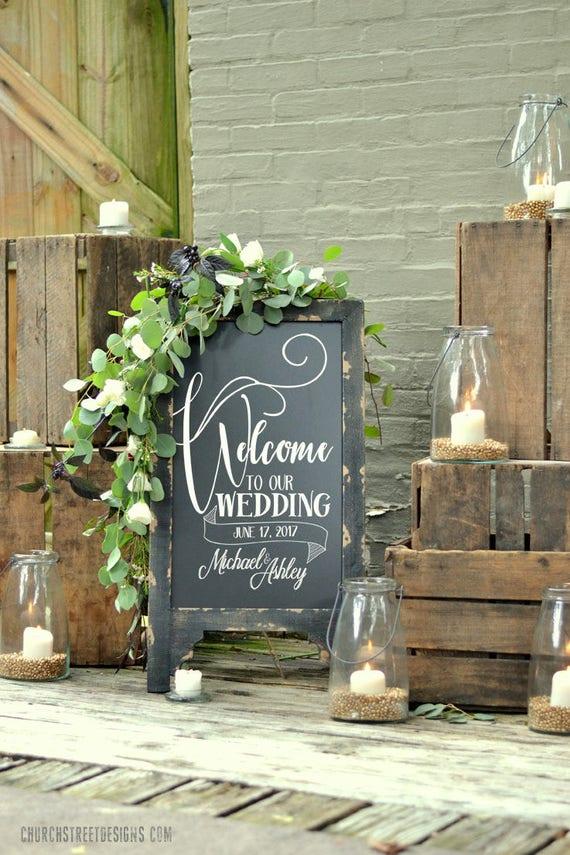 Hochzeits-Tafel mit Botschaft doppelt doppelseitig Tafel