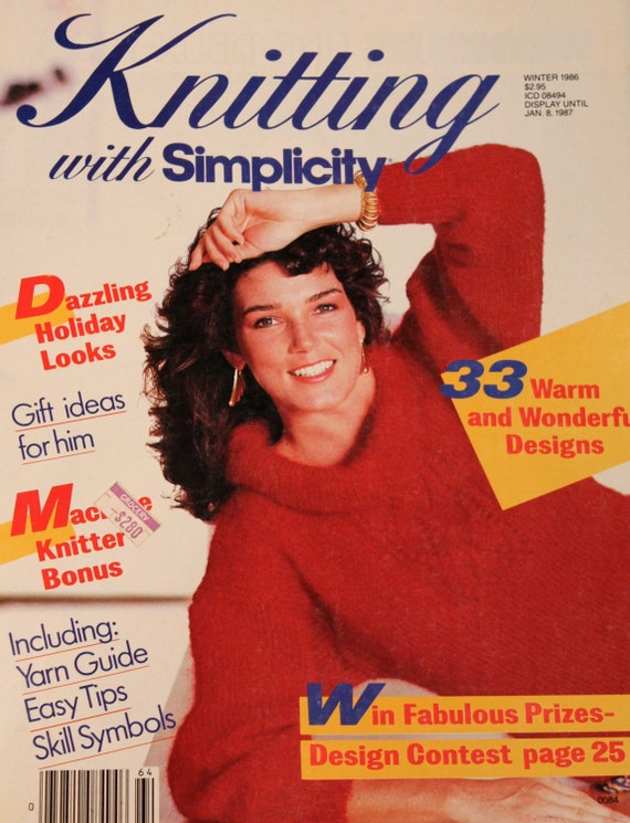 Vintage Knitting With Simplicity Magazine Winter 1986 1980s Etsy