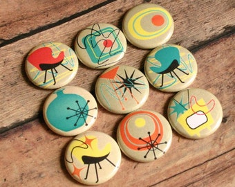 50's 60's fridge magnets retro atomic rockabilly furniture style