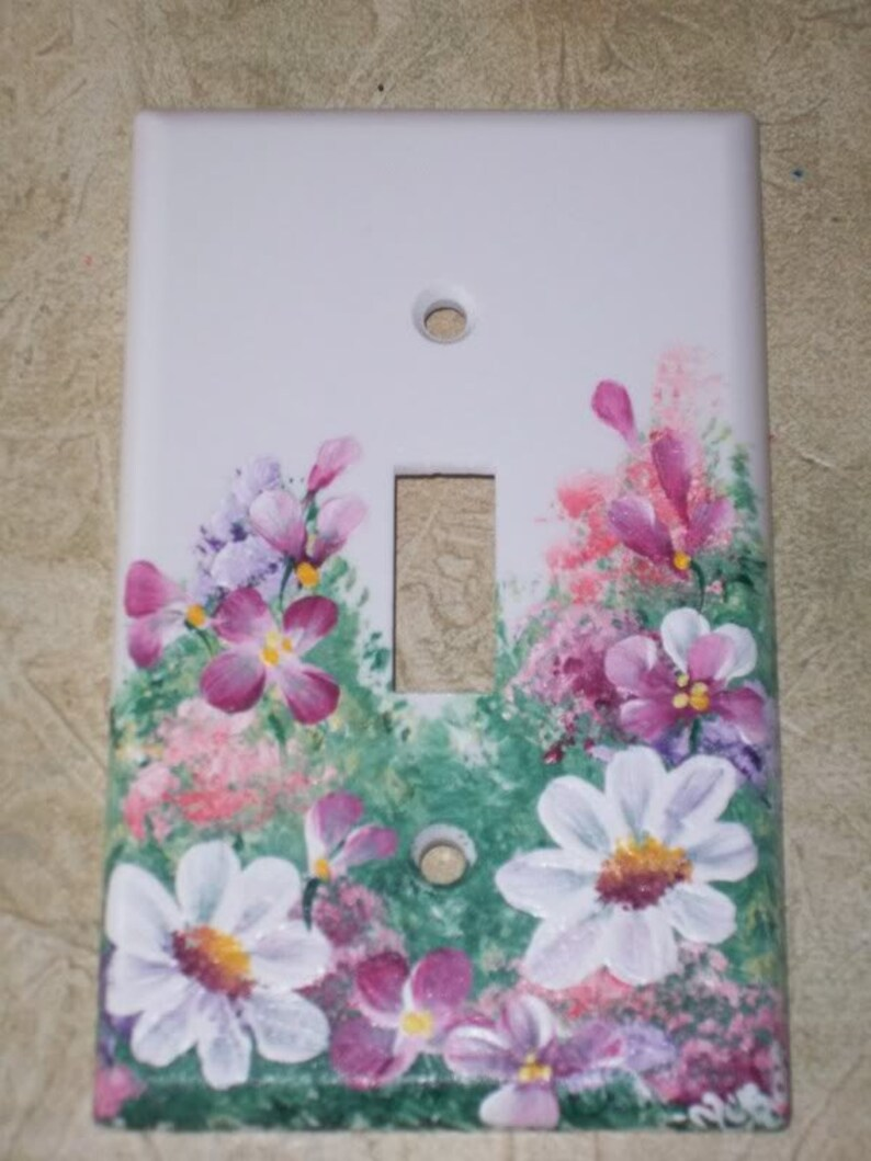 HP YELLOW ROSE Single GFI Switch Plate Cover Cottage Chic