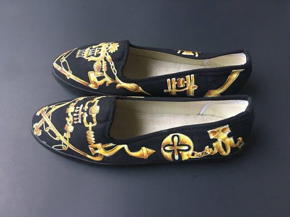 de Chaussures Chaussures de toile peinte toile toile Chaussures peinte toile peinte Chaussures de peinte Chaussures de de toile 7A6xw7S