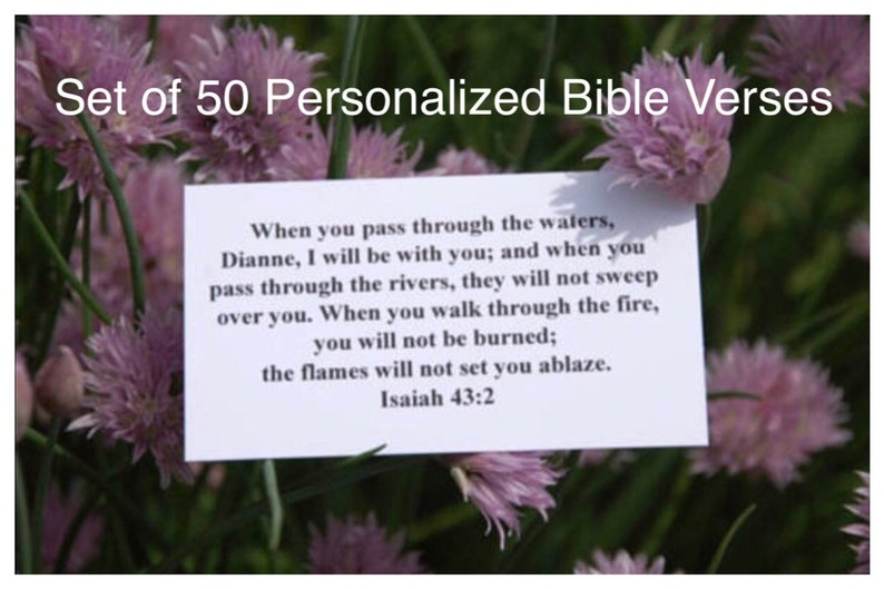 Personalized Scripture Cards, Bible, Bible Verse, Personalized, Custom,  Hostess Gift, Gift for Her, Gift for Him, Back to School,Christian