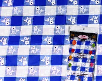 Blue/white Gingham Print Tablecloth, Picnic Tablecloth, Blue Gingham, Blue  Checker Print
