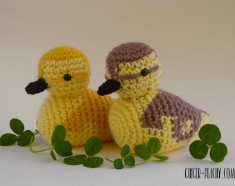 Darling Duckling Amigurumi   Crochet   Handmade   Homemade   Duck   Chick   Mallard   Realistic   Woodland Animal   Stuffed   Softie
