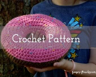 CROCHET PATTERN Scrumptious Donut Pillow