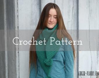 CROCHET PATTERN Retro Eloise Scarf   Infinity   Pom-pom   Long   St. Patrick's Day   Fashion   Handmade   Winter   Tubular   Accessories
