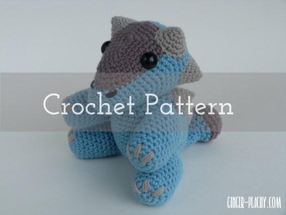 Crochet Pattern Spike The Ankylosaurus Amigurumi Dinosaur Etsy