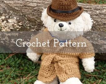 CROCHET PATTERN Secret Agent Doll Clothes   Gifts for Children   Kids   Stuffed Animals