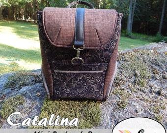Catalina Mini Backpack Purse: DIGITAL Sewing Pattern