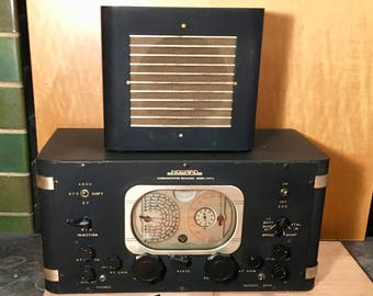 1938 Howard 450A 6-Band SW/AM Communications Receiver, Speaker, Headset, Elec Restored