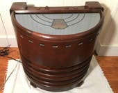 Restored 1937 Stromberg-Carlson Mirrored Chairside 3-Band Radio, 231R, PICKUP or Delivery ONLY