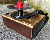 1949 RCA Victor 45rpm 45J2 Portable Record Player, Full Restoration, for Radios w Phono Jack