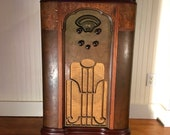 1934 Atwater Kent 3-Band Console Radio, Electronically Restored, AM Shortwave 3-Band Model 318