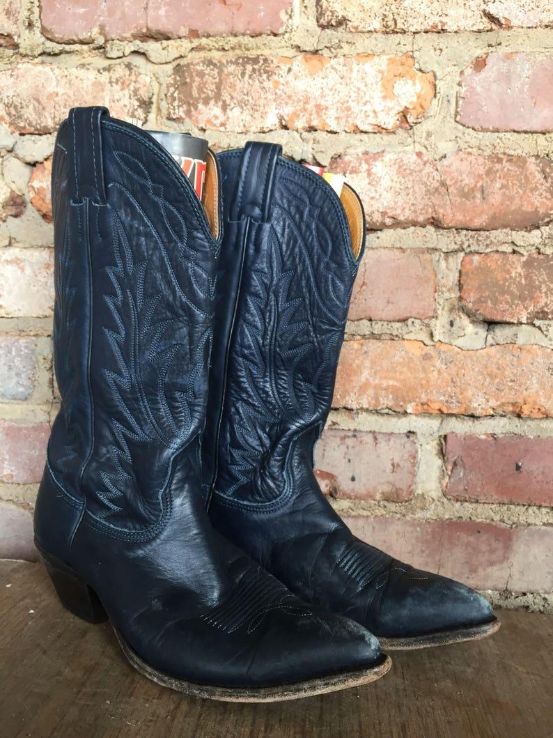 667d7440964 Vintage Navy Nocona ladies boots size 8b narrow