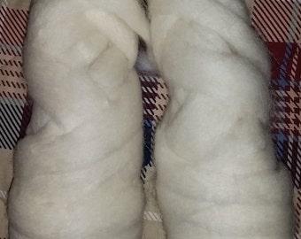 White Alpaca Roving