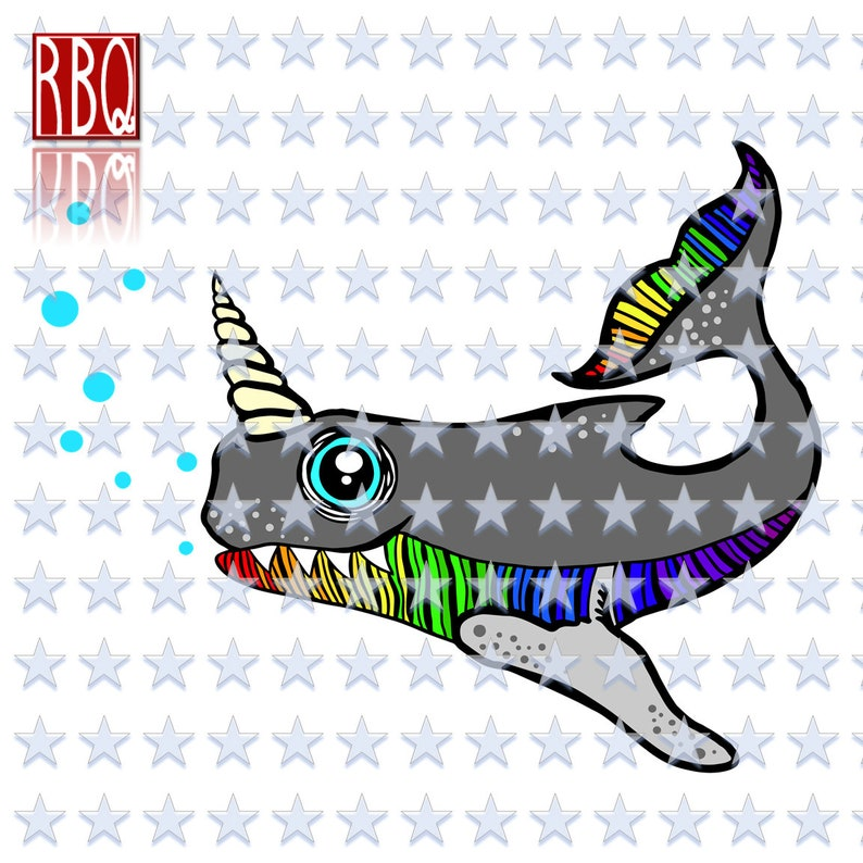 Unicorn Fish, Rainbow Fish, Fish with horn, Rainbow scales, Decal, Clipart,  Digital Cut File SVG dxf EPS Jpeg PNG pdf Vector commercial use