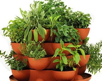 Attrayant Stack U0026 Grow Planter Plus Culinary Herb Garden Starter Kit   Complete  Indoor / Outdoor Herb Garden   Grow 12 Cooking Herbs