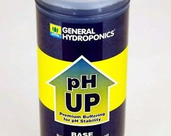 General Hydroponics pH UP - Base Solution for Raising pH - Gardening Plants - 1 Quart Bottle
