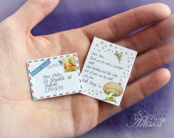 INSTANT EDITABLE Tiny Tooth Fairy letter AND certificate!