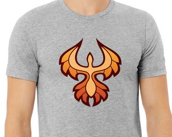 Phoenix Rising (dark on light) Unisex T-Shirt